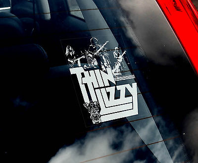 Thin Lizzy - Car Window Sticker - Hard Rock Music Band Sign Art Gift Print