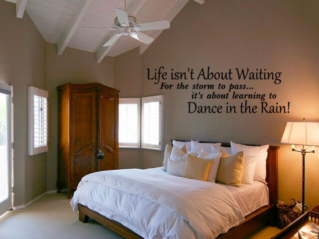 Life isn't about Waiting Decal Wall Quote Vinyl Sticker Words & Phrases