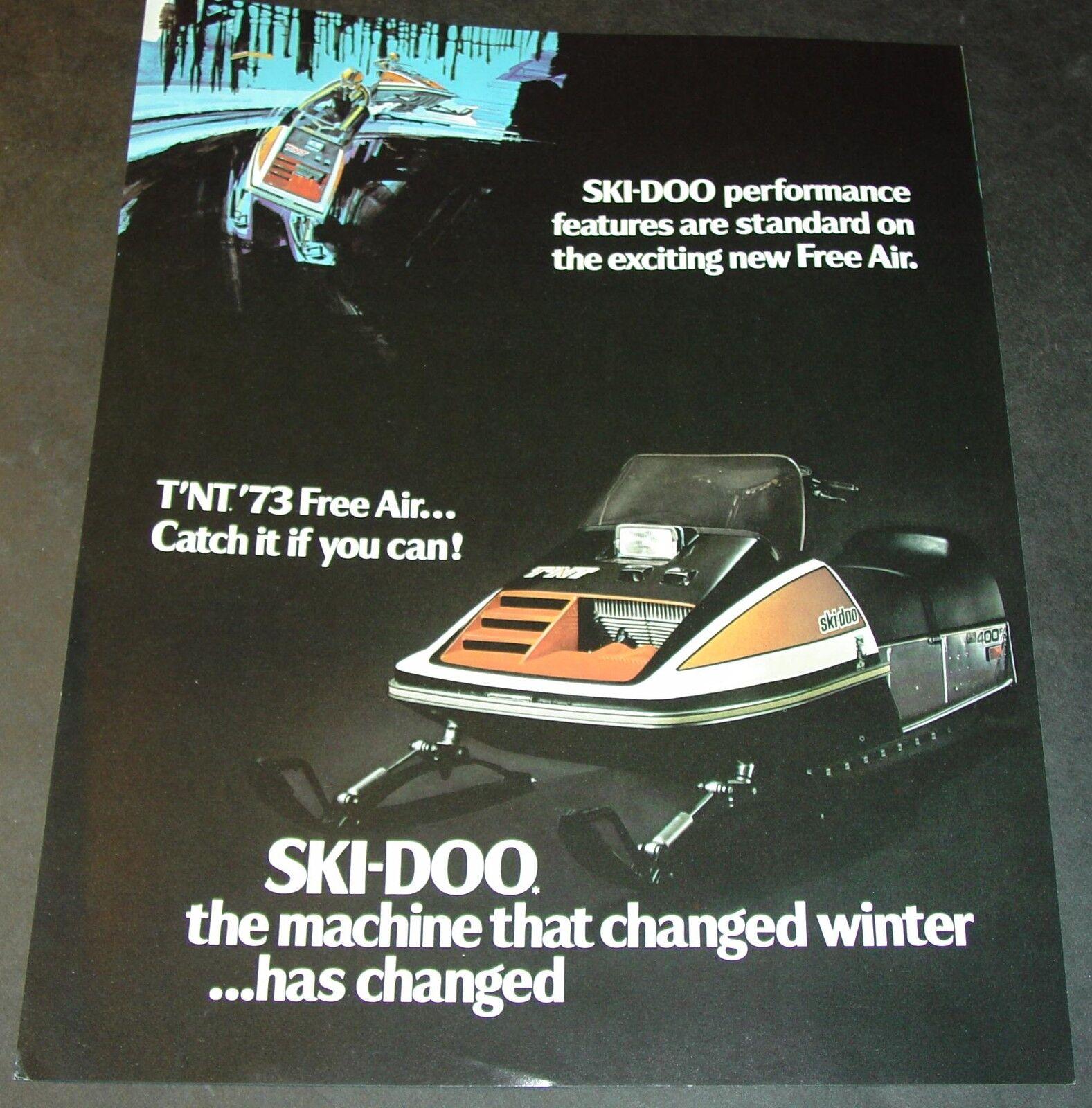 RARE 1973 1973 1973 SKI-DOO T'NT FREE AIR SNOWMOBILE SALES BROCHURE d4624b