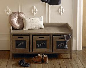 Image Is Loading Shabby Bench Storage Unit Chic Furniture Window Seat