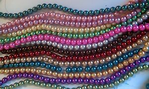 A-Grade-Glass-Pearl-Beads-Champagne-Ruby-Cerise-many-more-4mm-6mm-8mm