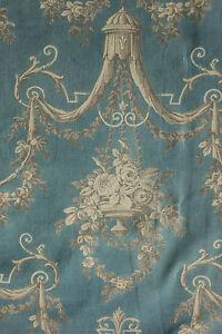 Antique-French-Prussian-blue-curtain-drape-Prussian-blue-ciel-de-lit-design
