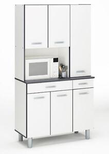 Miniküche im schrank  Küchenmöbel ARDOISE Küchenschrank Miniküche Schrank Küche weiß ...