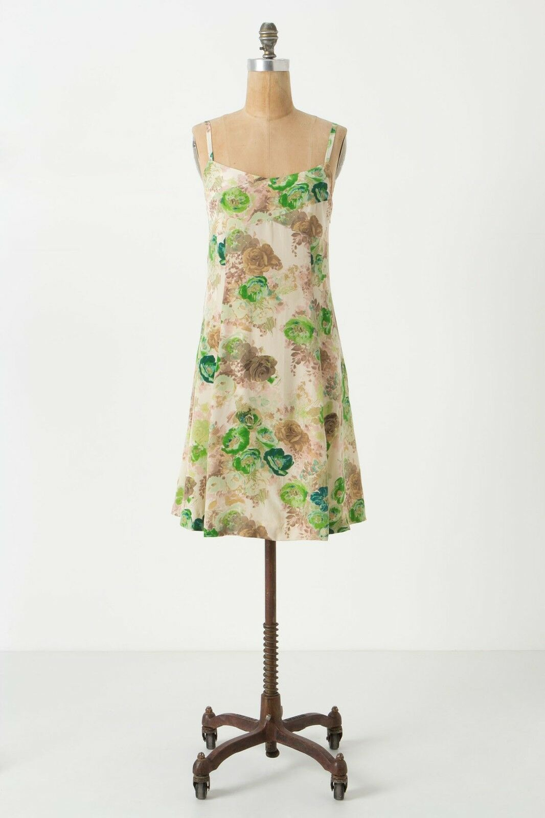 NWT Anthropologie Watered colors Silk Slip Dress Size 2 2 2 442535