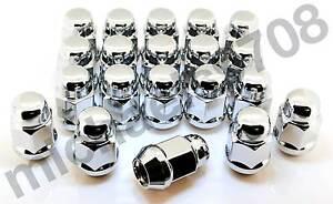 24x-Chrome-Wheel-Nuts-suit-Nissan-Navara-D40-D22-4x4-4x2-ST-STX-ST-X-STR-ST-R