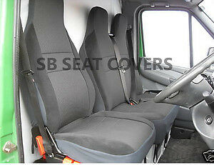 VAUXHALL VIVARO SPORTIVE VAN SEAT COVERS ANTHRACITE CLOTH FABRIC S+D - VSC101B