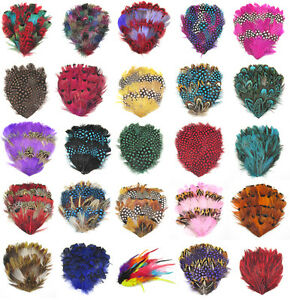 NEW-Multi-colors-feather-Natural-Pad-low-Hackle-Feathers-Pad-for-Crafts-You-Pick
