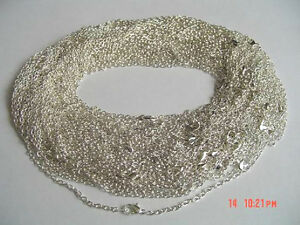 Wholesale-Lot-50-x-18-034-Silver-Plated-Necklace-Chains-NEW-Jewellery-Making-Crafts