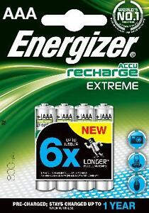 ENERGIZER-EXTREME-AAA-800mAh-RECHARGEABLE-BATTERIES-4-PACK-NiMH-HR03-1-2V-NEW