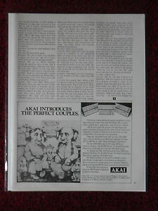 1977 Print Ad AKAI Stereo Amps & Equip w/ Charles Bragg ART Perfect Couples