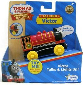 TALKING-VICTOR-Thomas-Friends-The-Wooden-Railway-Train-X-NIB-USA-Seller
