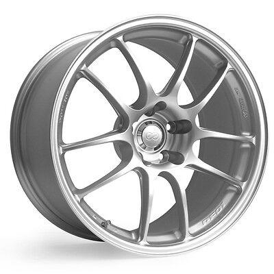 "ENKEI PF01 18x9.5"" Racing Wheel Wheels 5x114.3 Offset 15/35/45 Silver"