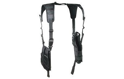 New UTG Vertical Deluxe Shoulder Holster Black PVC-H175B Tactical Pistol Leapers