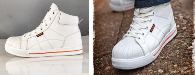 Scruffs Haze Safety Steel Toe Trainer - White Hi Top Fashion Midsole - NEW