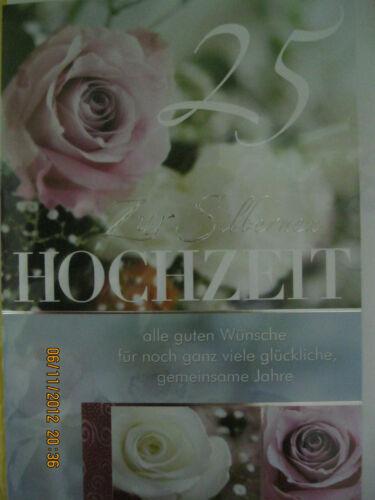 Umschlag Glückwunschkarte Hochzeit Goldene Hochzeit Silberene Hochzeit DIN A4 m