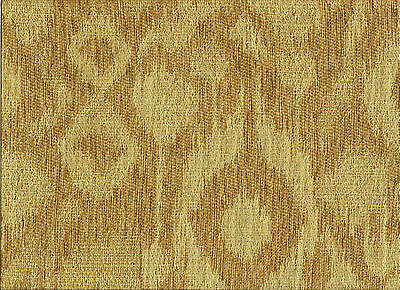 Tan and beige  Ikat  heavy woven  Upholstery Grade Fabric