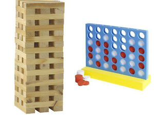 GIANT-CONNECT-4-IN-A-ROW-GARDEN-GAME-WOODEN-TUMBLING-TOWER-BLOCKS-OUTDOOR-NEW