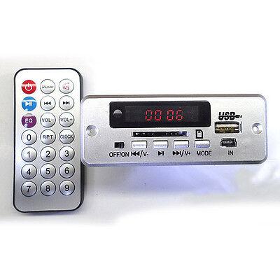 Digital LED 5V/12v mp3 Audio decoder Remote control FM radio usb SD CARD F/ CAR