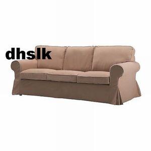 Sofa ikea ektorp  IKEA Ektorp 3 Seat Sofa SLIPCOVER Cover IDEMO BEIGE Tan w ...
