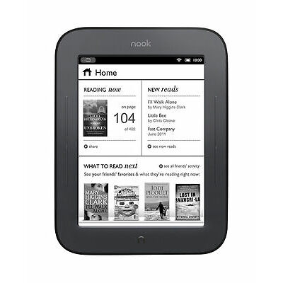 Barnes & Noble NOOK Simple Touch 2GB, Wi-Fi, 6in - Black eBook Reader
