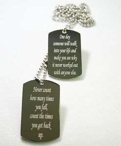 motivational dog tags believe positive military style
