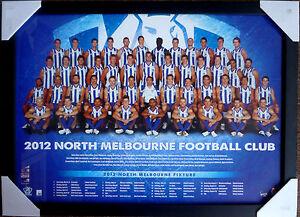 2012-NORTH-MELBOURNE-FOOTBALL-CLUB-TEAM-AFL-Kangaroos-official-posters-framed