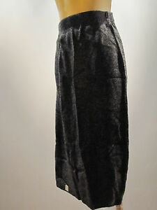 Nos-Vintage-Retro-80s-New-Wave-Heather-Gray-Knit-Sweater-Skirt-Disco-Vegan-S