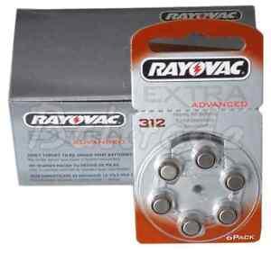 Rayovac-Extra-312-PR41-marron-Pile-pour-appareil-auditif-Menge-NACH-WAHL