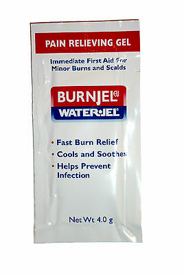 Burn Jel 4.0 gr Packet by Water Jel First Aid Treatment Relief Gel Kit Free EMT