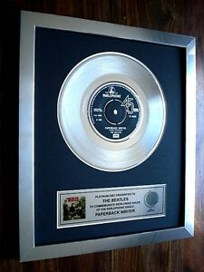 THE-BEATLES-PAPERBACK-WRITER-PLATINUM-DISC-7-034-SINGLE-RECORD-AWARD