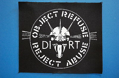 Dirt Cloth Patch (CP29) Punk Rock Crust Doom Filth Aus Rotten Infest Rudimentary