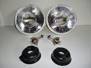 CHEVROLET CHEV 47 49 55 57 IMPALA 7 INCH HEAD LAMP LIGHT H4 2 BULBS INCLUDED