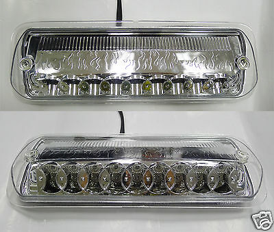 04 05 06 07 Ford F150 F-150 LED Third 3rd Brake Light Tail Lamps Chrome Clear