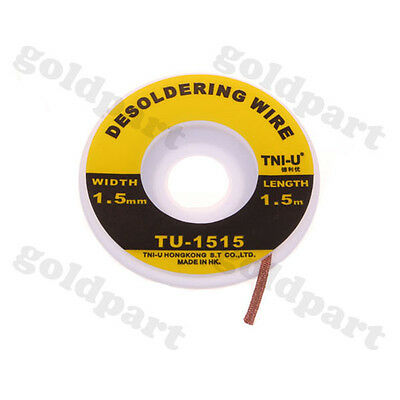5 ft. 1.5mm Desoldering Braid Solder Remover Wick TNI-U