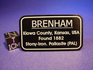 Brenham-meteorite-display-label-placard-Aluminum-with-double-sided-tape