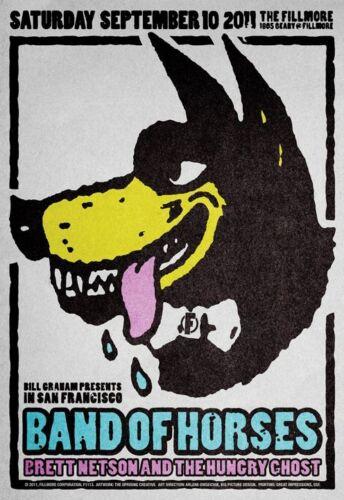 Band of Horses F1113 Uprising Creative Fillmore Concert Poster Bill Graham BGP