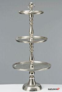 Etagere Metall Xxl : riesige xxl etagere 125cm 3er tanger silber farbend metall etagerie geb ckschale ebay ~ Watch28wear.com Haus und Dekorationen