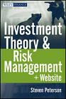 Investment Theory and Risk Management by Steven Peterson (Mixed media product, 2012)