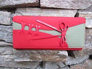 NEW-Ladys-Button-PU-Leather-Bifold-Wallet-Clutch-Bowknot-Purse-Long-Handbag-Bag