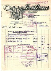 mix genest ag frankfurt hist rechnung 1928 telefon telegraf hessen sel itt ebay. Black Bedroom Furniture Sets. Home Design Ideas
