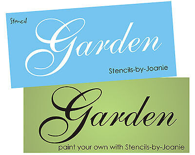 Stencil Garden French Shabby font Cottage Porch Yard Floral Chic Signs U Paint