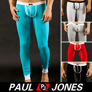New Mens Thermal Underwear Bulge Pouch Long Johns Under Pants ...