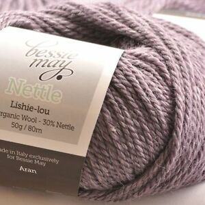 Nettle-Organic-Aran-Hand-Knit-Wool-Bessie-May-NETTLE-in-Lilac-of-Heather