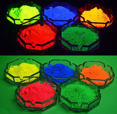 UV Reactive Pigment Fluorescent Neon Powder UV Blacklight Reactive