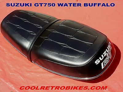 SUZUKI GT750 J LEMANS WATER BUFFALO SEAT ORIG FACTORY OEM COVER NOT REPRODUCTION
