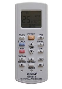 Universal air conditioner remote control fujitsu air for 1000 in 1 universal a c remote code table