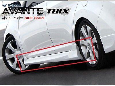 (Fits: 2011+ Hyundai Elantra) Side Skirt Body Kit 2p 1set TUIX Tuning PAINTED