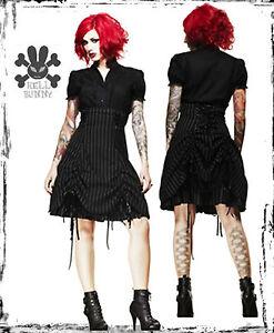 spin doctor black  white pinstripe steampunk corset skirt