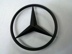 Mercedes benz oem painted black trunk star emblem c e s for Mercedes benz star logo