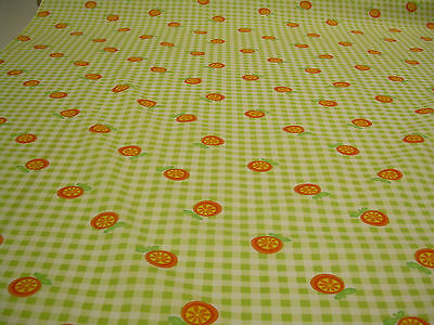 LIME CHECK/FRUIT SALAD PRINT COTTON POPLIN FABRIC:SELLING BY THE 1/2 MTR : CPP15